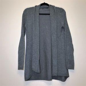 Zara Grey Knit Cardigan Sweater